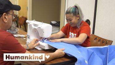 Nurses turn surgical trash into sleeping bags | Humankind 6