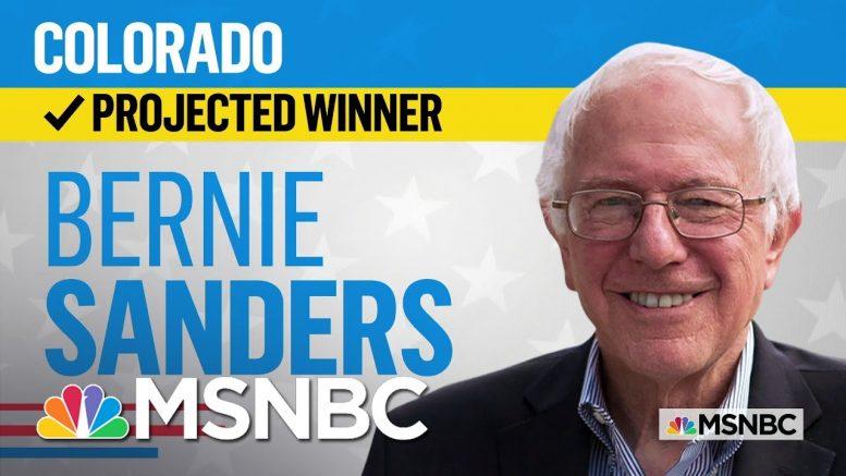 Bernie Sanders Wins Colorado, NBC News Projects | MSNBC 1