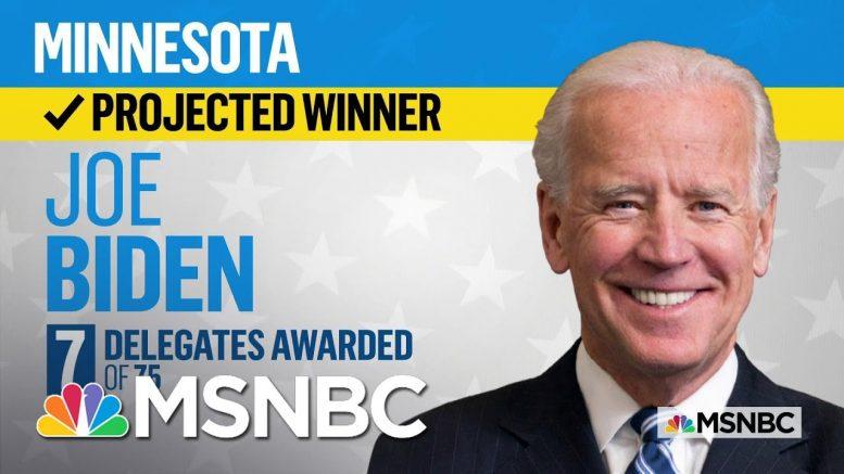 Joe Biden Wins Minnesota, NBC News Projects   MSNBC 1