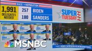 In Scary Moment, Protesters Come Within Reach Of Biden On Stage | MSNBC 3