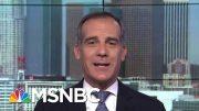 Los Angeles Mayor Says Biden A 'Great Guy, Great American' | Morning Joe | MSNBC 4