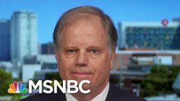 Sen. Doug Jones: Mike Bloomberg Dropping Out 'Extra Boost' For Biden   Hallie Jackson   MSNBC 8