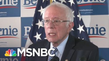 Bernie Sanders Hopes To Focus On 'Issue Oriented Campaign'   Katy Tur   MSNBC 6