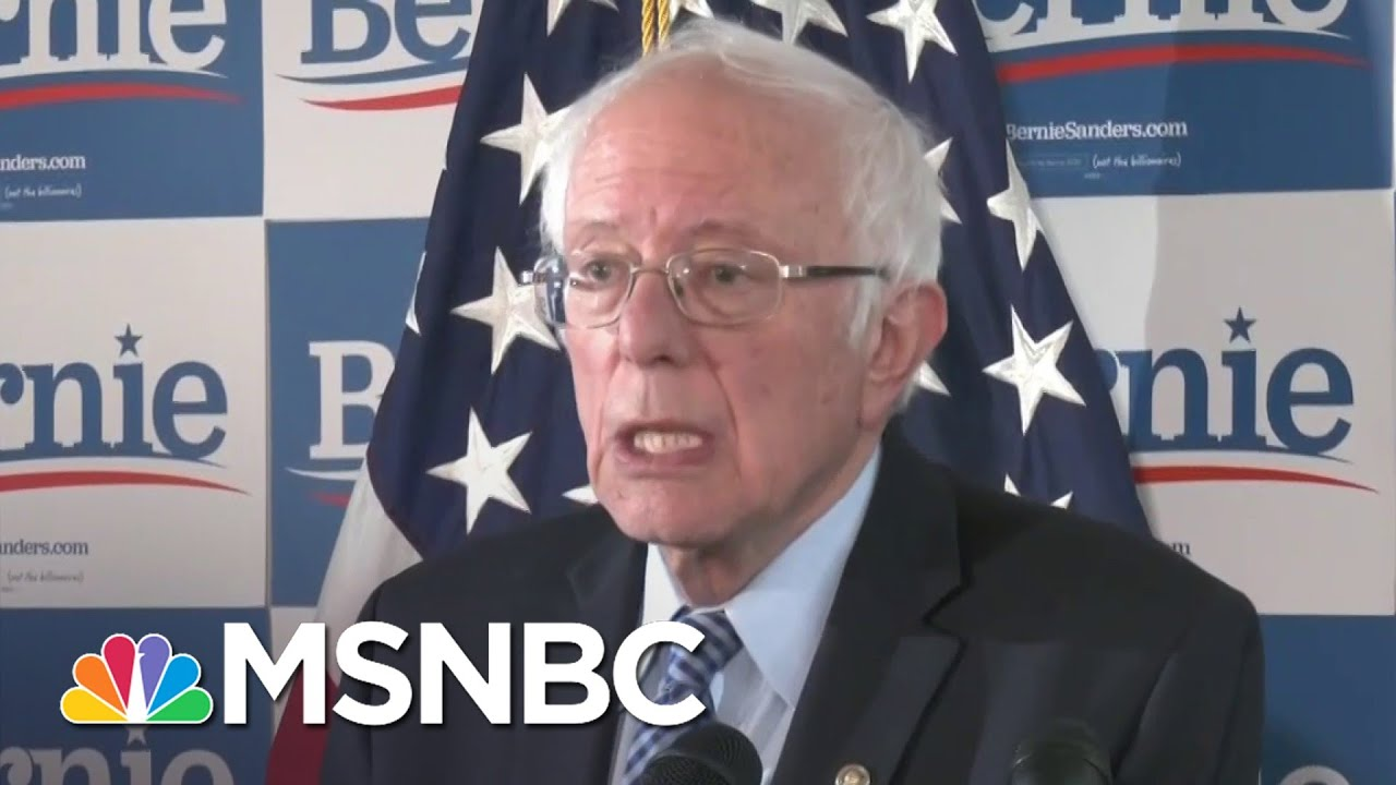Bernie Sanders Hopes To Focus On 'Issue Oriented Campaign'   Katy Tur   MSNBC 9