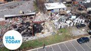 Devastating damage shown in drone footage after tornado tears through Nashville | USA TODAY 5