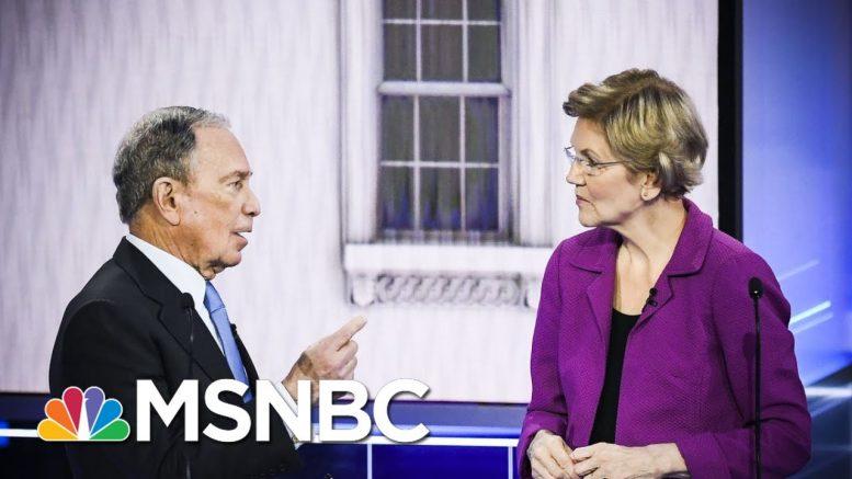 Elizabeth Warren Takes Credit For Tanking Bloomberg On Purpose | Rachel Maddow | MSNBC 1