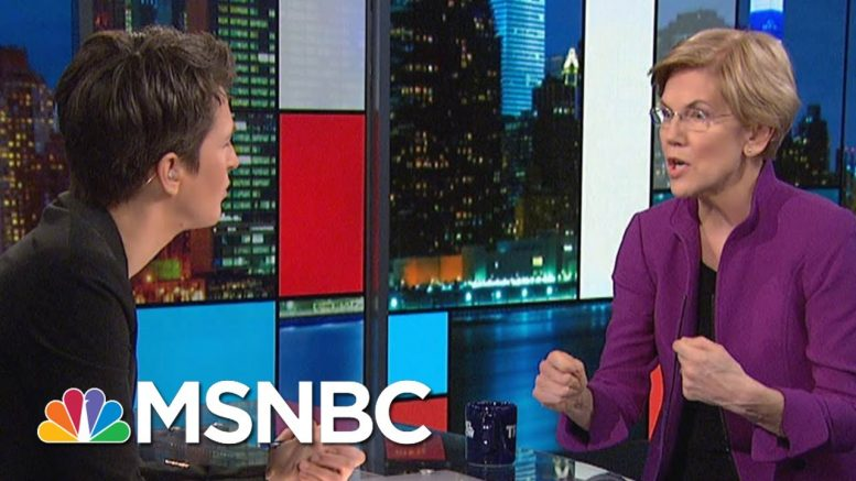 Warren: Just A Little Longer Before We Have A Woman In The White House   Rachel Maddow   MSNBC 1