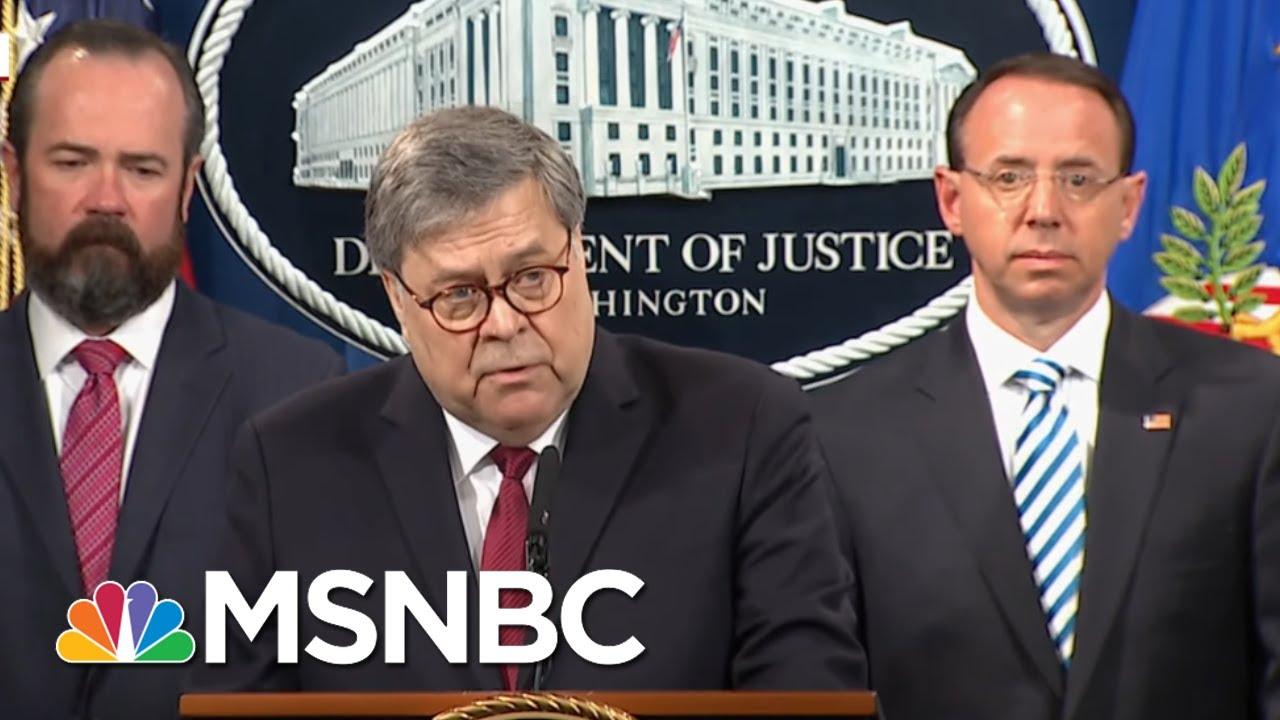 Federal Judge Blasts Barr Over Mueller Report   Deadline   MSNBC 9