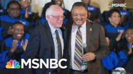 Rev. Jesse Jackson Endorses Bernie Sanders | Weekends with Alex Witt | MSNBC 4