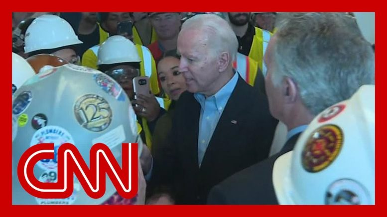 Joe Biden confronted on gun control by auto plant worker 1