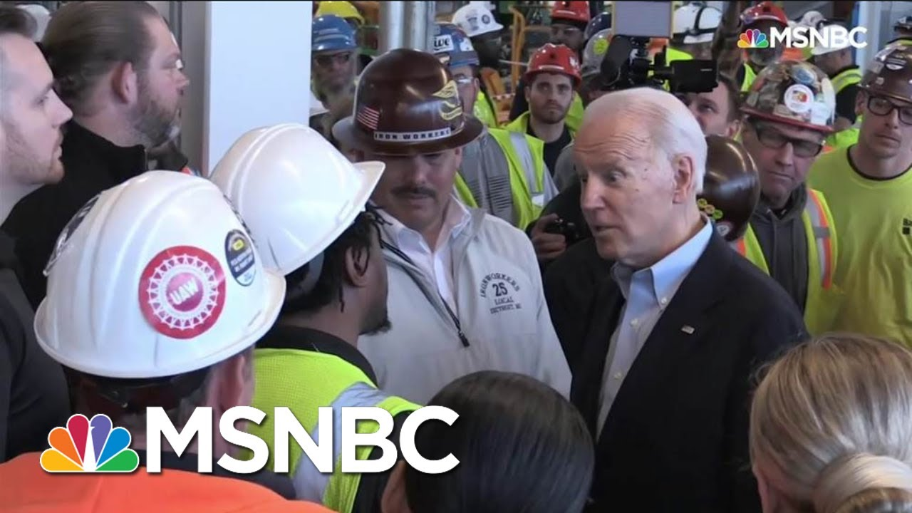 Biden Confronts Man Who Accuses Him Of Wanting To Take His Guns Away | Andrea Mitchell | MSNBC 6