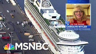 "Grand Princess Passenger: ""It's Very Concerning For Us"" | Velshi & Ruhle | MSNBC 6"