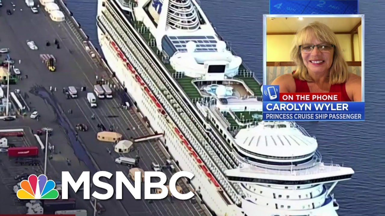 "Grand Princess Passenger: ""It's Very Concerning For Us"" | Velshi & Ruhle | MSNBC 1"