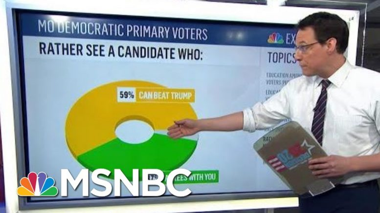 Exit Polls: Most Democrats Want A Nominee Who 'Can Beat Trump' | MTP Daily | MSNBC 1