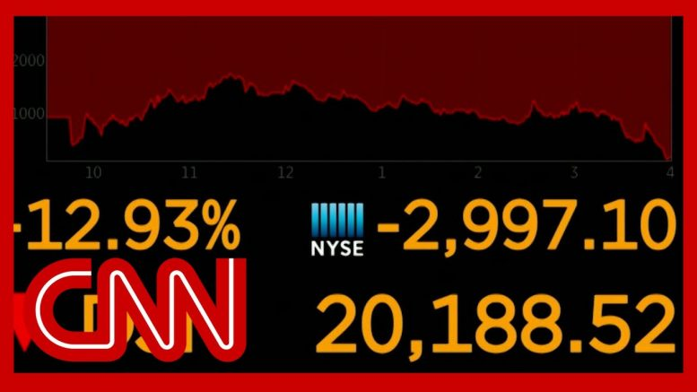 Dow sees worst point loss since 1987 1