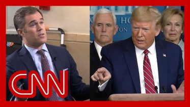 Trump rants at reporter asking about scared Americans 6