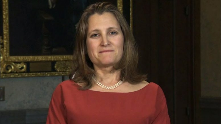 Freeland reassures that Canada has enough COVID-19 testing kits 1