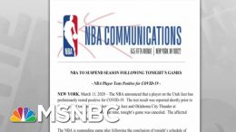 NBA Suspends Rest Of Season After Player Tests Positive For Coronavirus | Rachel Maddow | MSNBC 2