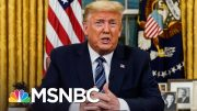 Trump Changes Tone After Dismissing Coronavirus As A Democratic 'Hoax' | The 11th Hour | MSNBC 3