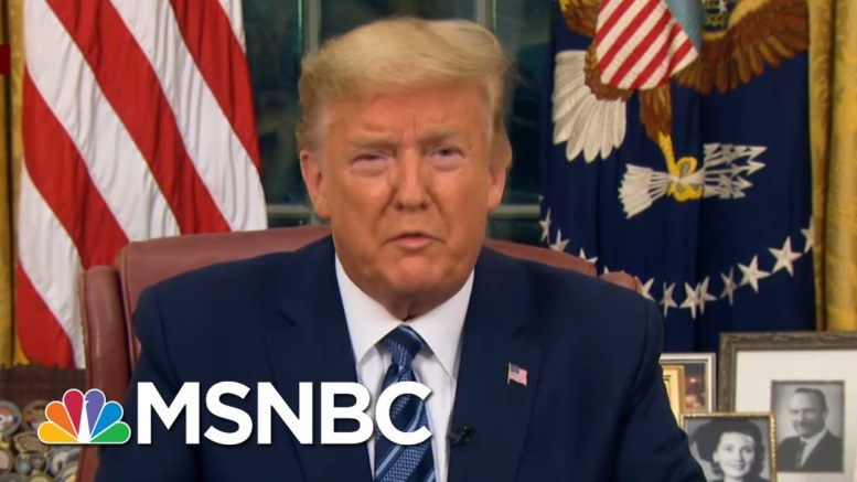 Trump Speaks To Nation After Number Of U.S. Virus Cases In U.S. Passes 1,000 | Morning Joe | MSNBC 1