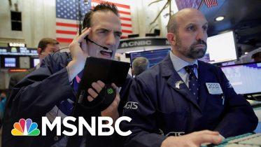 Trading Halted After Stocks Plunge Following Trump's Coronavirus Response   Velshi & Ruhle   MSNBC 3