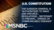 COVID-Quarantine? U.S. Law Gives Broad Powers To Stem Infectious Disease | MSNBC 2