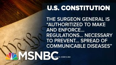 COVID-Quarantine? U.S. Law Gives Broad Powers To Stem Infectious Disease | MSNBC 6