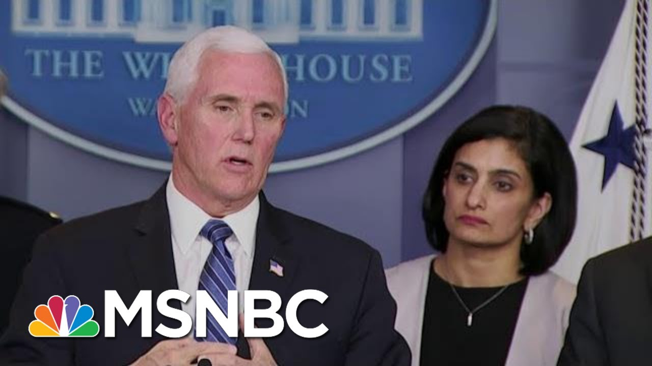 Pence Delivers Coronavirus Update: Vaccine Could Go To Trials Within 6 Weeks   MTP Daily   MSNBC 1