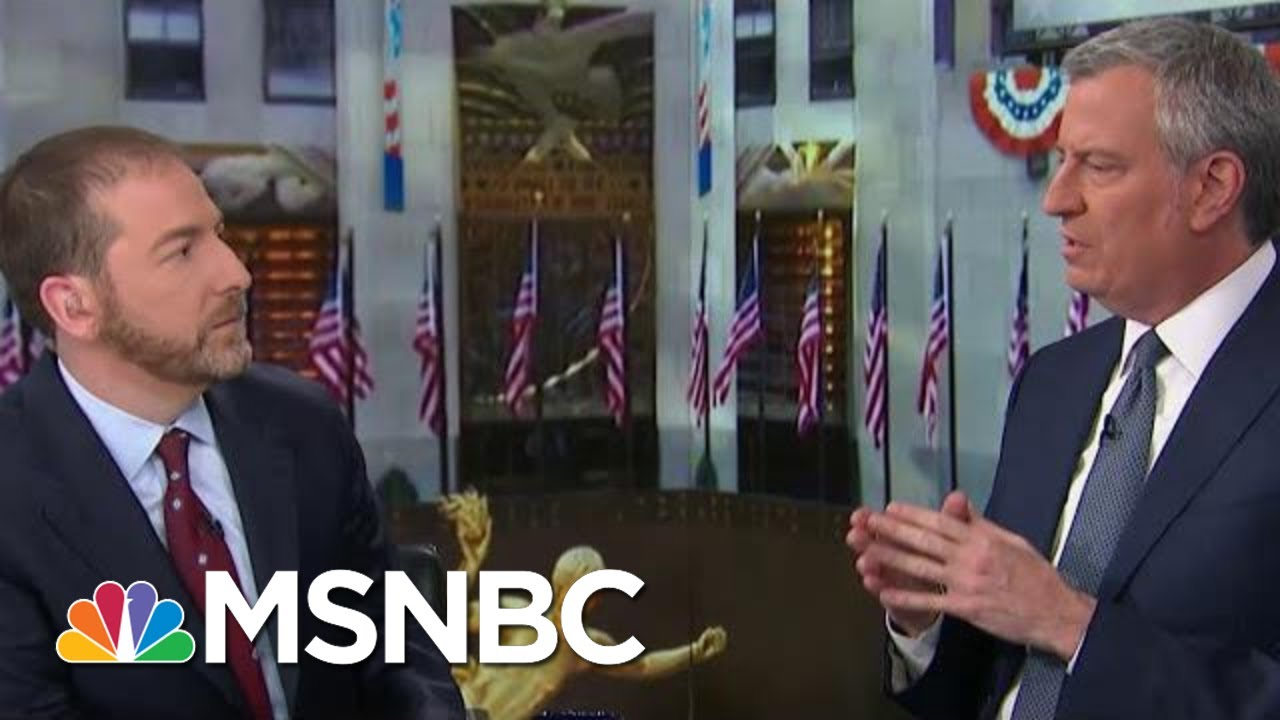 De Blasio: 'For A Lot Of People' Coronavirus Is 'Manageable' | MTP Daily | MSNBC 1