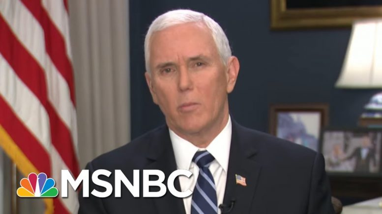 VP Admits There's Been 'Irresponsible Rhetoric' On Virus | Morning Joe | MSNBC 1