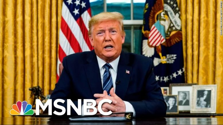 Trump Recommends Stricter Guidelines To Slow The Spread Of Coronavirus | Deadline | MSNBC 1