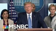 Trump Credits 'Very Fair' Media And Jeff Bezos' WH Coordination On Coronavirus | MSNBC 3