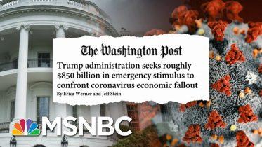 Dow Rises After Trump Acknowledges Coronavirus Economic Impact | Stephanie Ruhle | MSNBC 6