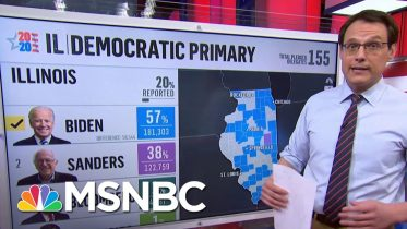 Kornacki On Illinois: 'Blue Collar Voters Swinging Dramatically Away From Bernie Sanders' | MSNBC 1