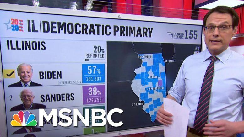 Kornacki On Illinois: 'Blue Collar Voters Swinging Dramatically Away From Bernie Sanders' | MSNBC 1