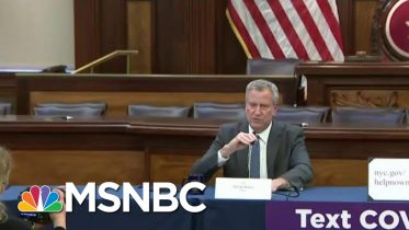 NYC Warned Of Possible Shelter In Place Efforts To Fight Coronavirus Intensify | MTP Daily | MSNBC 3