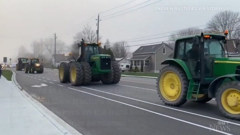 Farmers pay tribute to hospital staff with tractor convoy 1