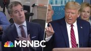 'You're A Terrible Reporter': Pressed On Coronavirus, Trump Berates NBC's Peter Alexander | MSNBC 3