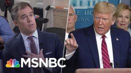 'You're A Terrible Reporter': Pressed On Coronavirus, Trump Berates NBC's Peter Alexander | MSNBC 2
