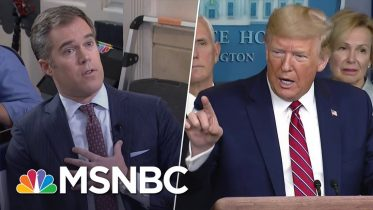 'You're A Terrible Reporter': Pressed On Coronavirus, Trump Berates NBC's Peter Alexander | MSNBC 6