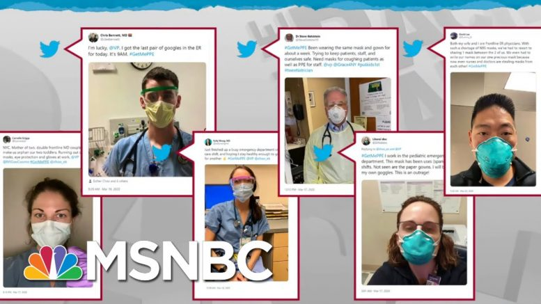 Health Care Workers On Their Own Against Coronavirus As Supplies Dwindle | Rachel Maddow | MSNBC 1