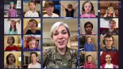 U.S. soldier virtually unites children for a singalong 5