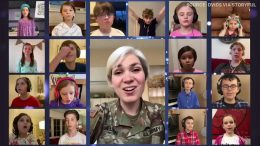 U.S. soldier virtually unites children for a singalong 2