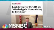 Mississippi Governor Untroubled By COVID Crises In Neighboring States | Rachel Maddow | MSNBC 2