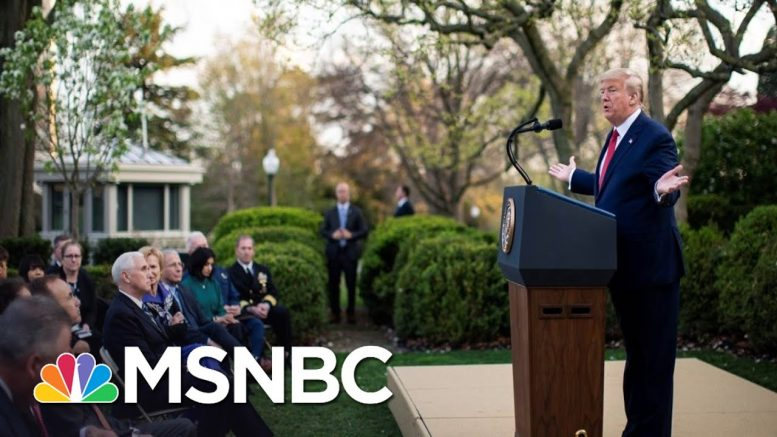 Trump Backs Off Reopening As Nation's Coronavirus Death Toll Nears 3,000 | The 11th Hour | MSNBC 1