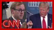 Trump berates reporters when asked about report by his official 3