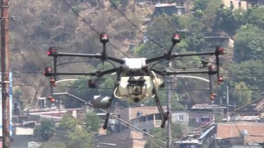 In Honduras, drones are used to disinfect areas 6