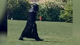 """Caught on camera: Why is a """"plague doctor"""" wandering around this U.K. town? 1"""