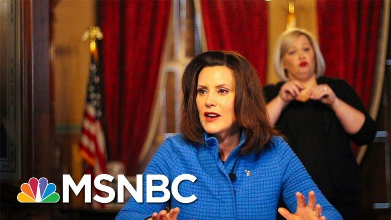 Gov. Gretchen Whitmer: Stay-At-Home Protests Are 'Political Rallies' | MTP Daily | MSNBC 1