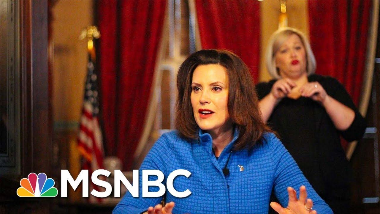Gov. Gretchen Whitmer: Stay-At-Home Protests Are 'Political Rallies'   MTP Daily   MSNBC 9